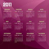 Fényképek 2011 naptár. vektoros illusztráció