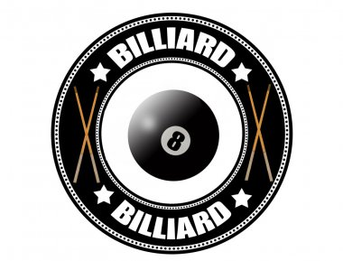 Billiard label