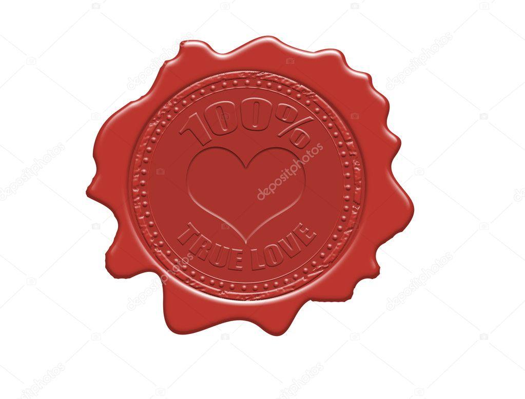 100% true love wax seal