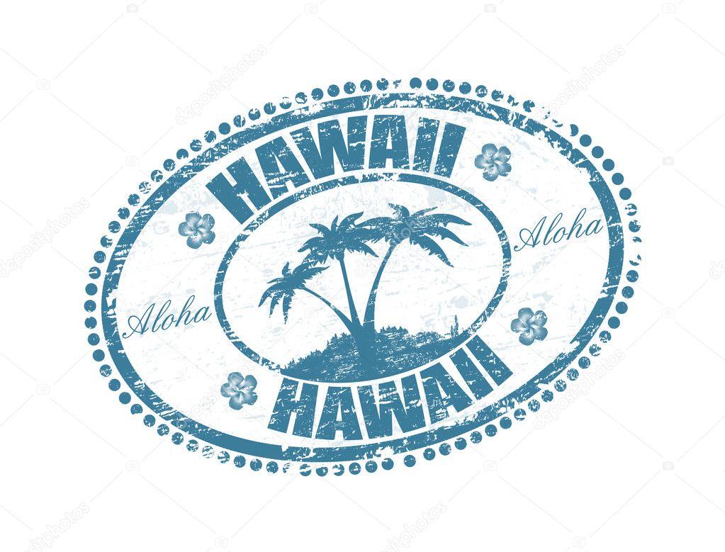 hawaii stamp stock vector roxanabalint 4677530. Black Bedroom Furniture Sets. Home Design Ideas