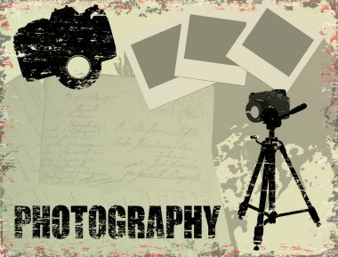 Vintage photography poster