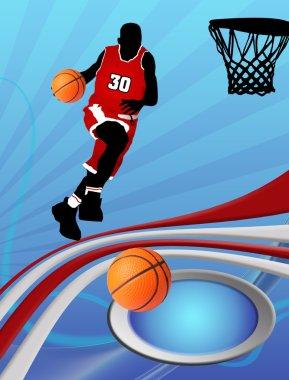 Basketball design poster