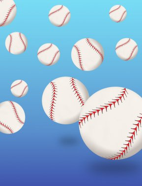 Baseballs bouncing