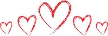 Set of hearts clip art vector
