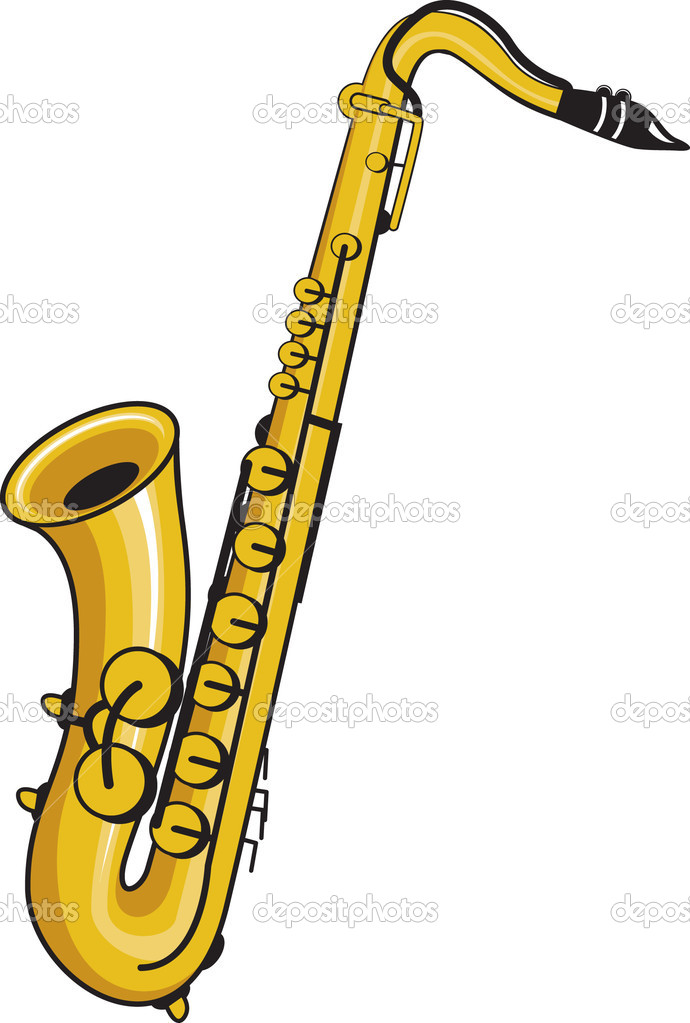 Saxophone stock vector jameschipper 4109160 - Dessin saxophone ...