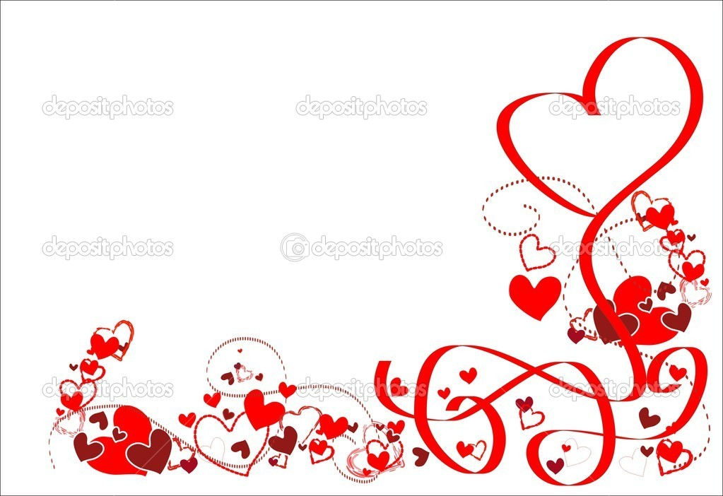 Romantic frame with hearts and ribbons. — Stock Vector © Yanny01 ...