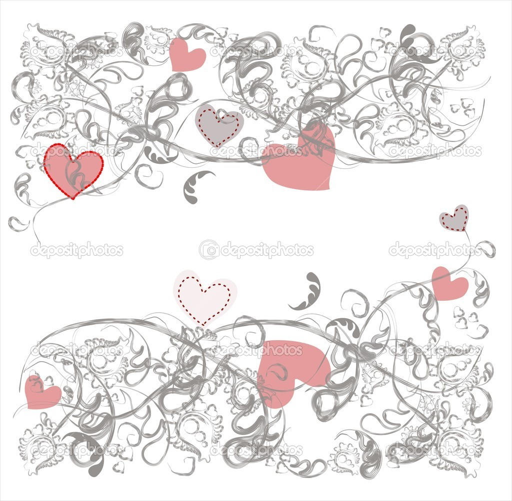Romantic background delicate gray floral pattern