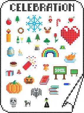 Pixel celebrations
