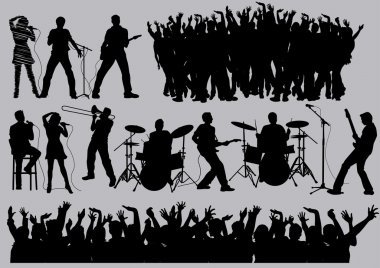 Music silhouettes