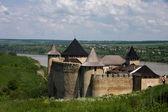 vista ingresso alla fortezza di khotyn. Hotin, Ucraina