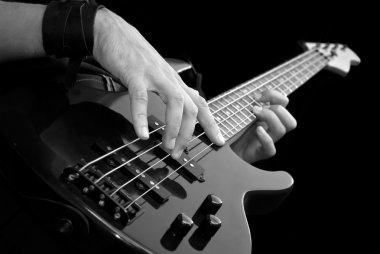 Playing bass-guiar
