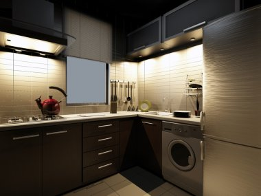 The modern kitchen interior design