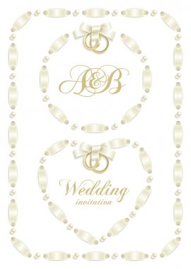 Wedding ribbon frame set 2