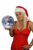 Fotografie sexy blonde Weihnachtsmann Helfer (2)
