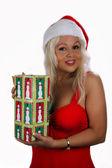 Fotografie sexy blonde Weihnachtsmann Helfer (5)