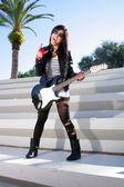 Photo Beautiful Girl with Electric Guitar (2)