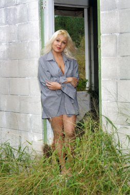 Beautiful Blonde in a Dilapidated House (2)