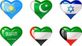 Fotografie Flags heart