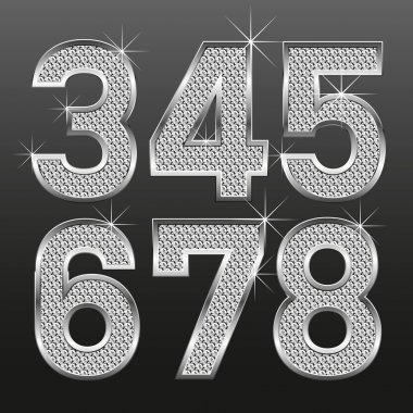Metall diamond letters and numbers big and small