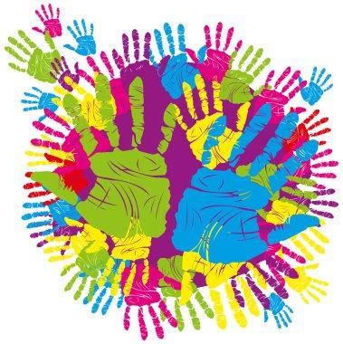 Color hand print