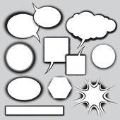 Vektorový soubor stylu komiksové bubliny
