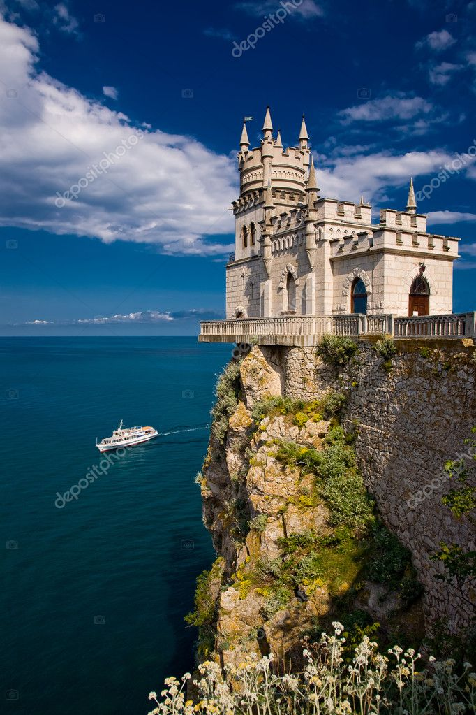 Fairy castle above the sea
