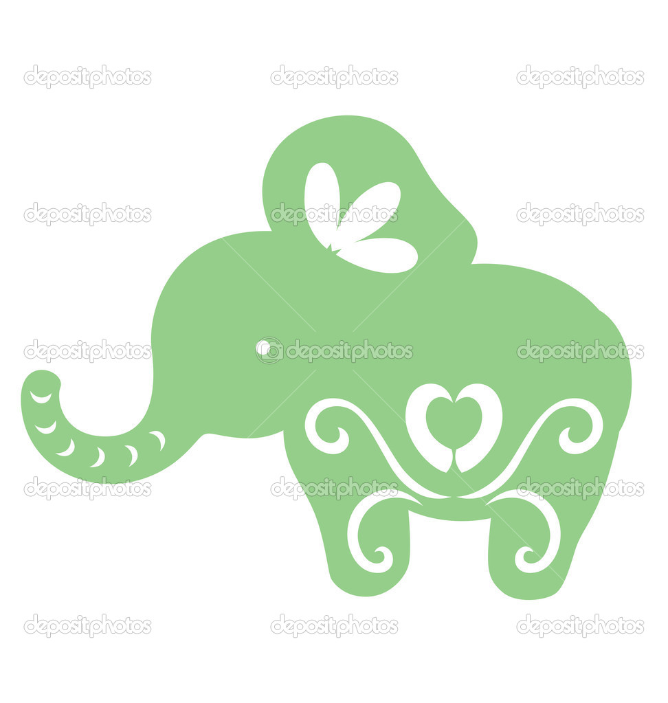 Decorative baby elephant