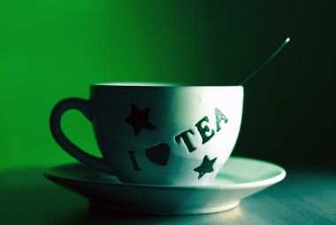 Mystic cup of tea background