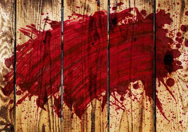 Blood on wall