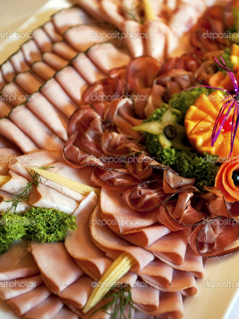 Ham Platter Presentation Buffet Plate With Different Kinds Of Ham Stock Photo C Aglphotoproduction 5257829