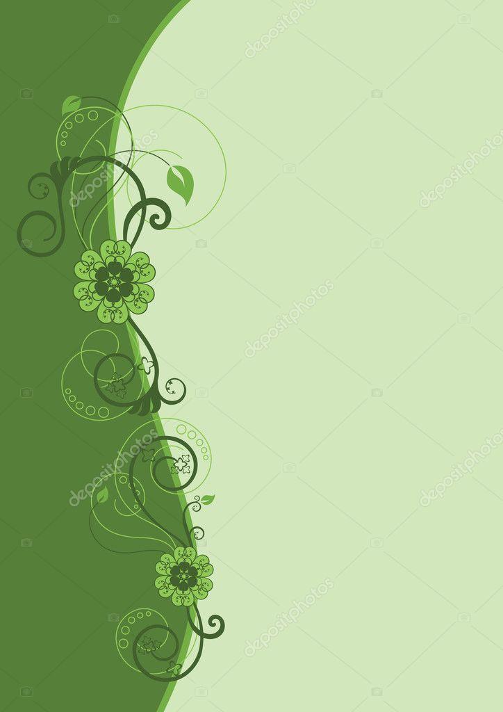Green floral border design