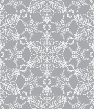 Snowflake pattern on silver background