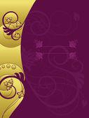 Fotografia sfondo floreale oro e viola