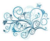 Türkis floral Design-element