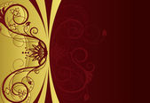 Gold and red floral cover design