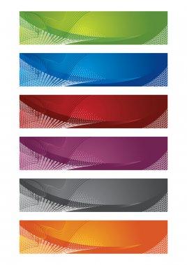 Selection of halftone digital banners