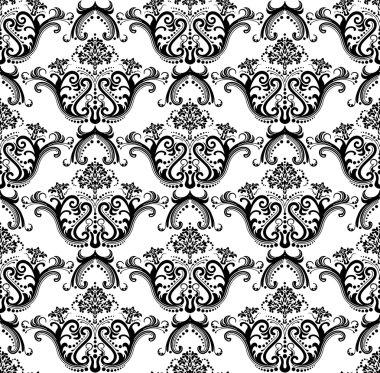Luxury seamless black & white wallpaper
