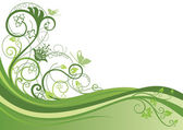Fotografia bordo floreale verde