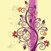 Fotografia illustrazione vettoriale floreali di viola e rosa