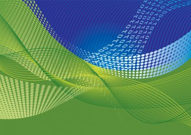 Data transfer abstract background with halftone effect