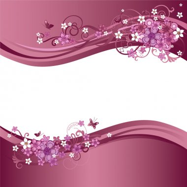 Two pink and white floral banners
