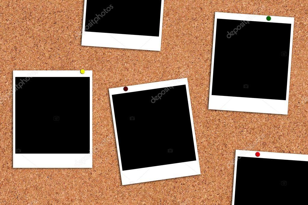 Bilderrahmen auf einem Kork-Brett — Stockfoto © ronstik #4134123