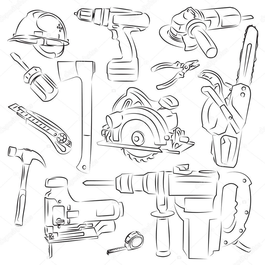 Строительные материалы раскраска