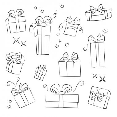 Gift Box Collection. Easy to colorize