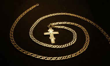 Silver chain and cross