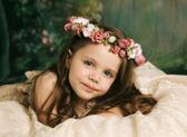 glatte Modellelegante Porträt von wunderschönen jungen Mädchen