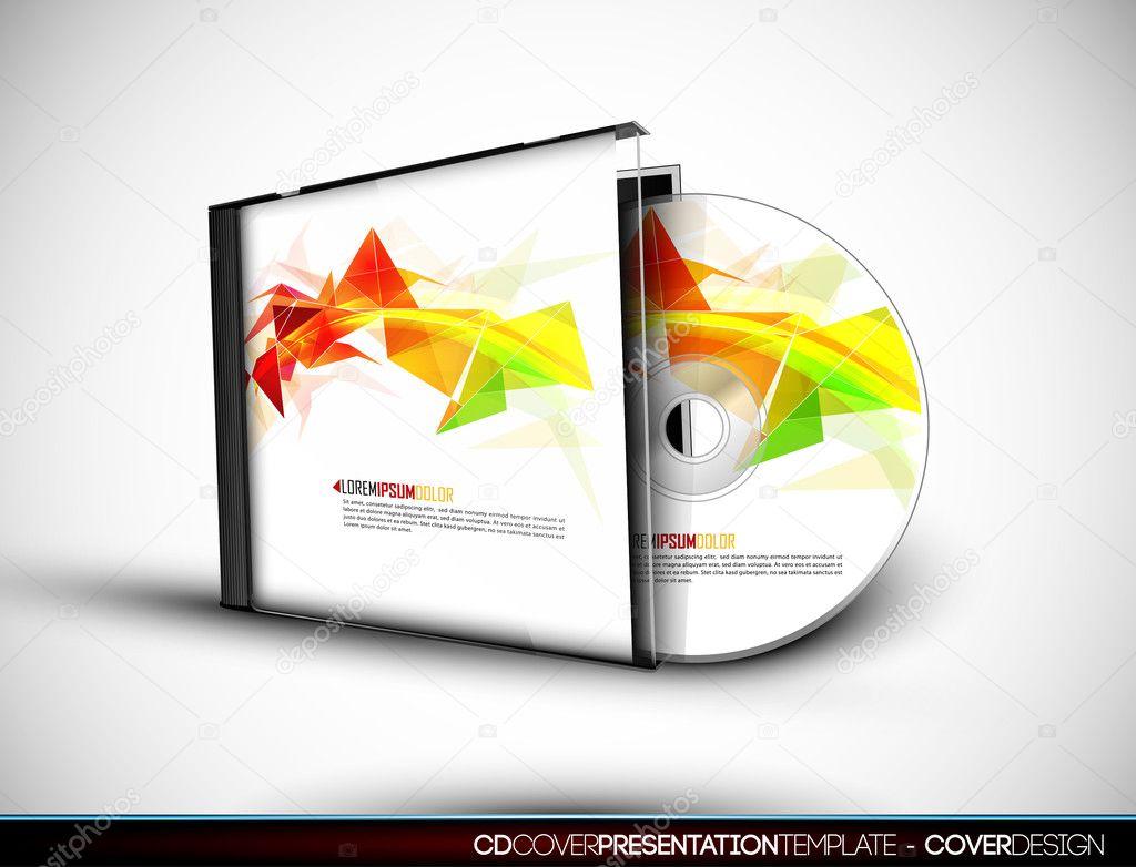 diseño de la cubierta del CD con plantilla de presentación 3d ...