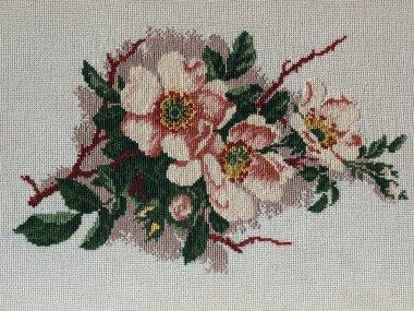 Flowers, cross stitch
