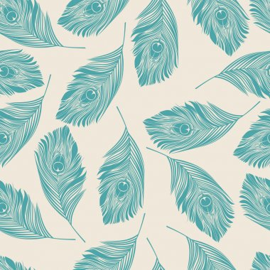 Seamless peacock pattern