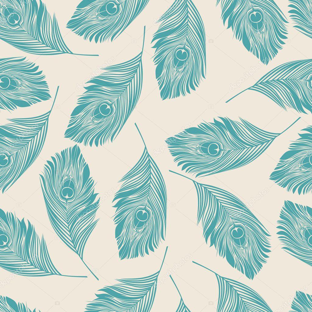 seamless peacock pattern stock vector sashayezik 5219319